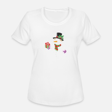 Hold Out Smiling Snowman Holding Out Christmas - Women's Sport T-Shirt