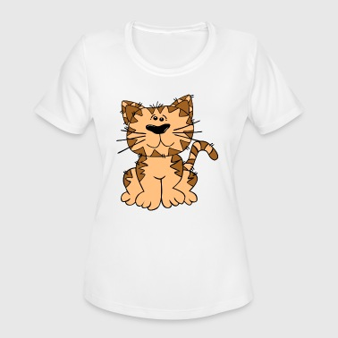 Cat Motif cat cute zoo animal motifs for kids. - Women's Moisture Wicking Performance T-Shirt