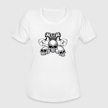 Crowned Skull Crown with skulls - Women's Moisture Wicking Performance T-Shirt