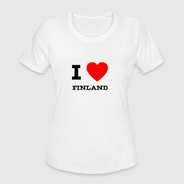 I Love Finland i love Finland - Women's Moisture Wicking Performance T-Shirt
