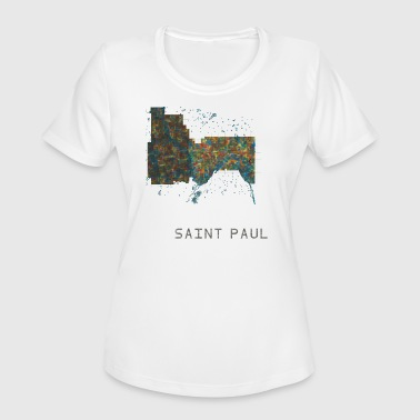 st paul (& minneapolis) water - Women's Moisture Wicking Performance T-Shirt