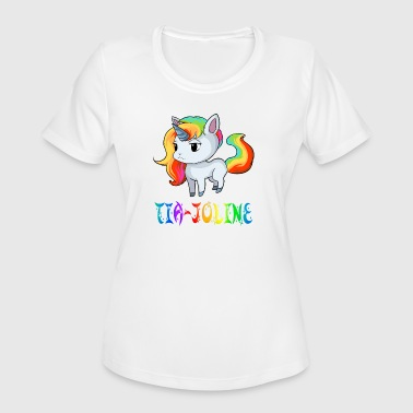 Joline Tia-Joline Unicorn - Women's Moisture Wicking Performance T-Shirt