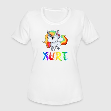 Kurt Unicorn - Women's Moisture Wicking Performance T-Shirt