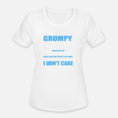 August Grumpy Old Man I AM A GRUMPY OLD MAN ALLERGIC TO STUPIDITY - Women's Moisture Wicking Performance T-Shirt