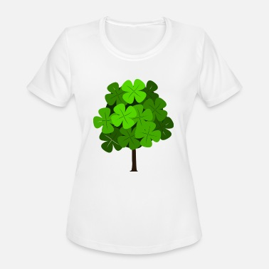 Deciduous Tree Clover tree - Women's Moisture Wicking Performance T-Shirt