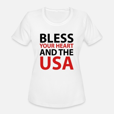 Bless Bless Your Heart and the USA - Women's Sport T-Shirt