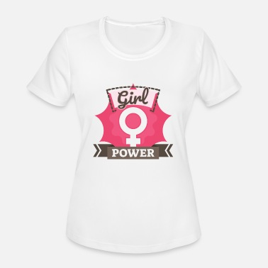 Feminism Symbol Girl Power SYMBOL - Women's Moisture Wicking Performance T-Shirt