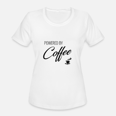 Powered by Coffee - Women's Sport T-Shirt