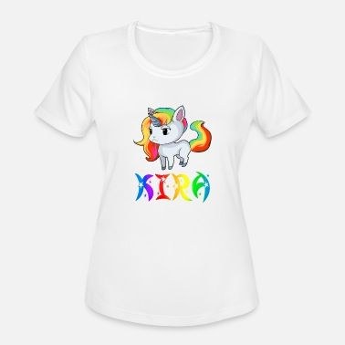 Kira Kira Unicorn - Women's Moisture Wicking Performance T-Shirt