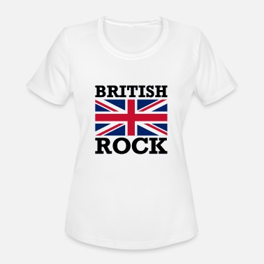 British Rock with Union Jack Flag - Women's Sport T-Shirt