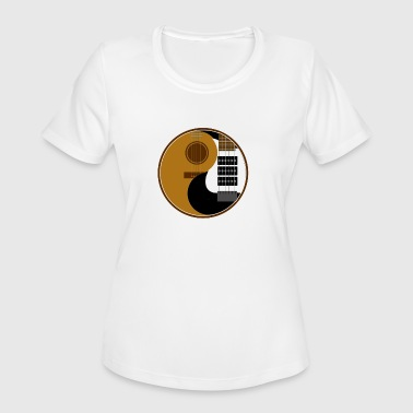 Yin Yang Guitar Yin Yang Guitar - Women's Moisture Wicking Performance T-Shirt