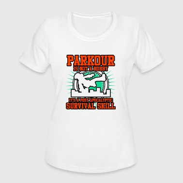 Front Post Parkour Hobby - Women's Moisture Wicking Performance T-Shirt