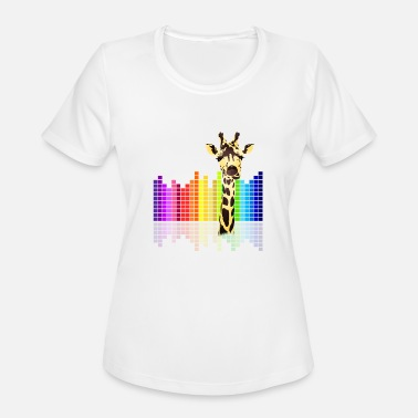Hardstyle Kids giraffe Farbe dJ Musik Skyline Techno Kids dab - Women's Moisture Wicking Performance T-Shirt