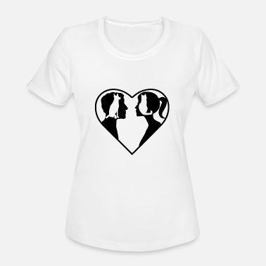 Woman Love Love Pets Man & Woman - Women's Sport T-Shirt