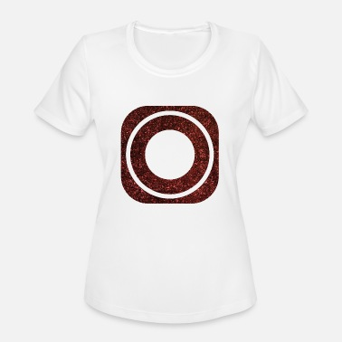 SQUARES VIERECKE ROT 19 - Women's Moisture Wicking Performance T-Shirt