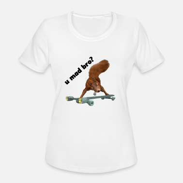 funny mad squirrel - Women's Moisture Wicking Performance T-Shirt
