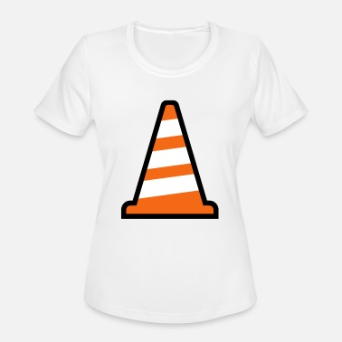 Construction Site Pylon Construction Site - Women's Moisture Wicking Performance T-Shirt