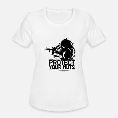 Thrones Protect Your Nuts Military Funny Guns - Women's Moisture Wicking Performance T-Shirt