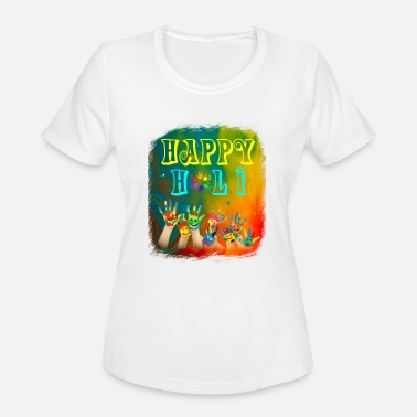 Holi Joyful Celebrations Happy Holi Tshirt - Women's Moisture Wicking Performance T-Shirt