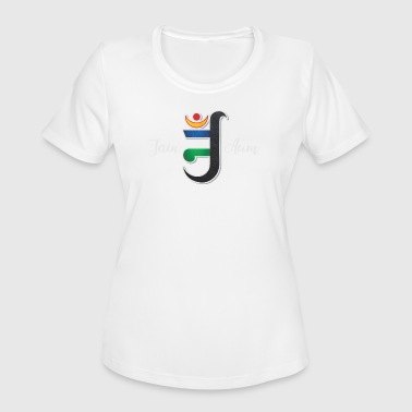 Jain Aum, Jainism, ahimsa, mahaveer, om. - Women's Moisture Wicking Performance T-Shirt