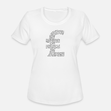 Currency Snow Wordcloud of a currency lira form (black) - Women's Sport T-Shirt