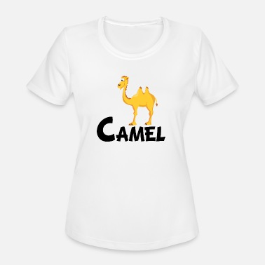 Kids Design Animals Camel Cartoon Camel - Women's Moisture Wicking Performance T-Shirt