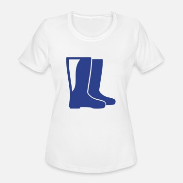 Rubber Boots rubber boots - Women's Moisture Wicking Performance T-Shirt
