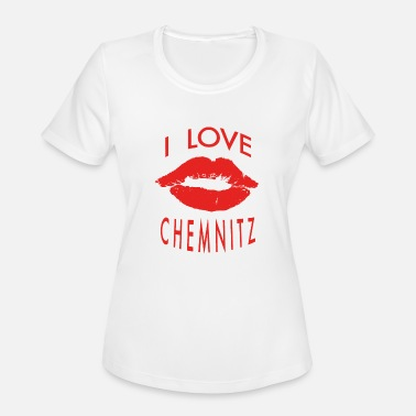 Chemnitz I LOVE CHEMNITZ - Women's Moisture Wicking Performance T-Shirt