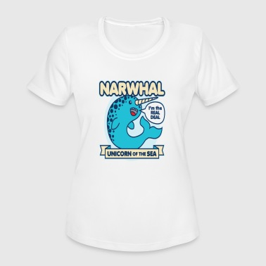 Narwhal - Women's Moisture Wicking Performance T-Shirt