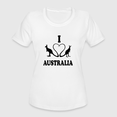 I Love Perth I love Down Under - Women's Moisture Wicking Performance T-Shirt