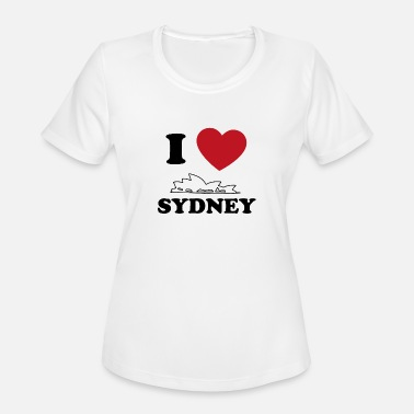 Harbour Bridge I love Sydney - Women's Moisture Wicking Performance T-Shirt