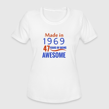 47th Birthday 47th birthday design - Women's Moisture Wicking Performance T-Shirt