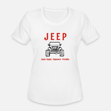 Jeep Funny Jeep is - Women's Moisture Wicking Performance T-Shirt