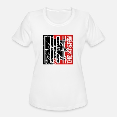 Fucking Square cracks scratch stamp square big rebellious fuck th - Women's Moisture Wicking Performance T-Shirt