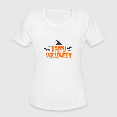 Party Time Happy Hour Happy Halloween Bats witch hat - gift idea - Women's Moisture Wicking Performance T-Shirt
