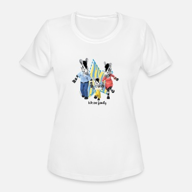 We Are Family We are Family Family of Zebras - Women's Moisture Wicking Performance T-Shirt