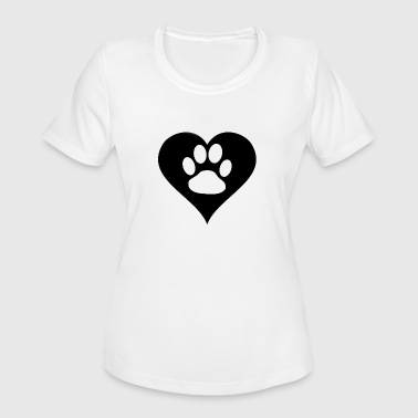 Paw in heart - Women's Moisture Wicking Performance T-Shirt