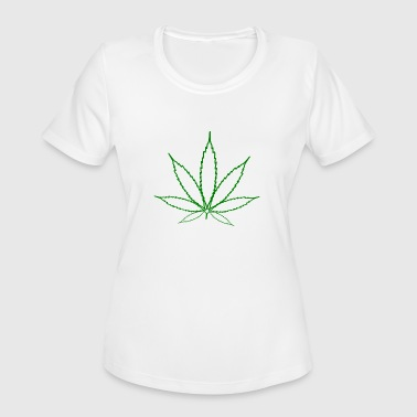 Hemp Leaf - Women's Moisture Wicking Performance T-Shirt