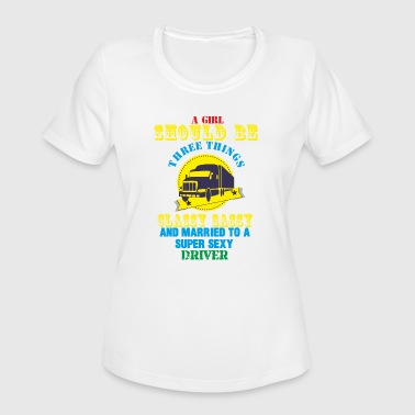 Drivers Apparel Driver T shirt and Apparel Limited Edition ! - Women's Moisture Wicking Performance T-Shirt
