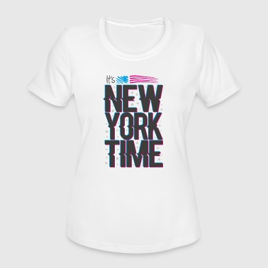 New york lettering - Women's Moisture Wicking Performance T-Shirt