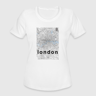City Map London hipster city map black/white - Women's Moisture Wicking Performance T-Shirt