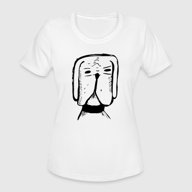 3 People Dogs cool dog 3 black - Women's Moisture Wicking Performance T-Shirt