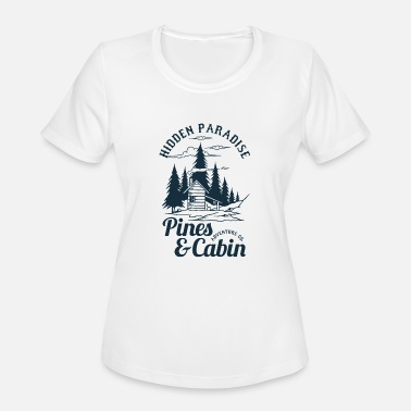 Cabin Pines and Cabin - Women's Sport T-Shirt