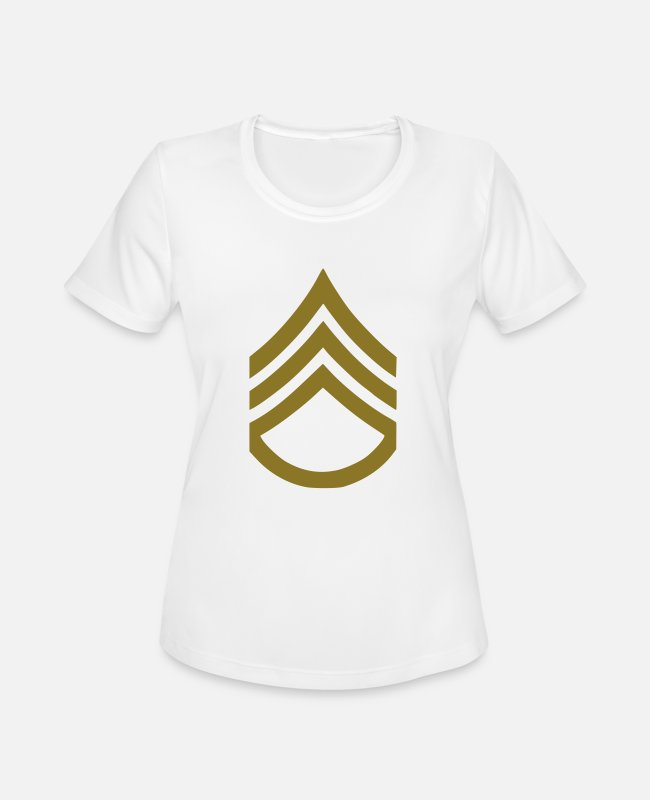 Troops T-Shirts - ARMY SERGEANT - Women's Sport T-Shirt white