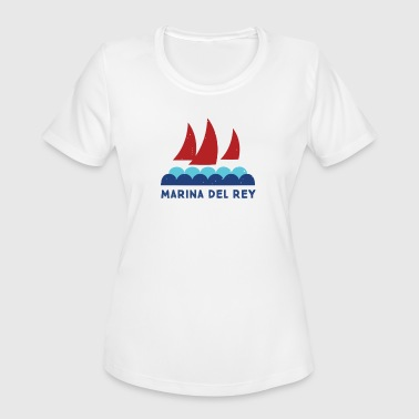 marina del rey - Women's Moisture Wicking Performance T-Shirt