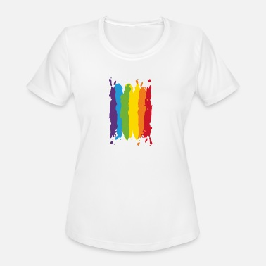 Backpacker Gay Pride Gay Pride funny tshirt - Women's Moisture Wicking Performance T-Shirt