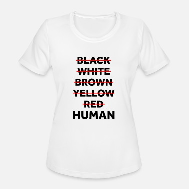 Yellow Black White Red Yellow Brown Human Shirt - Women's Sport T-Shirt