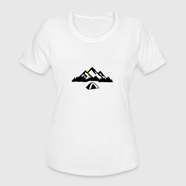 Camping -  Nature, Mountains & Forest - Women's Moisture Wicking Performance T-Shirt
