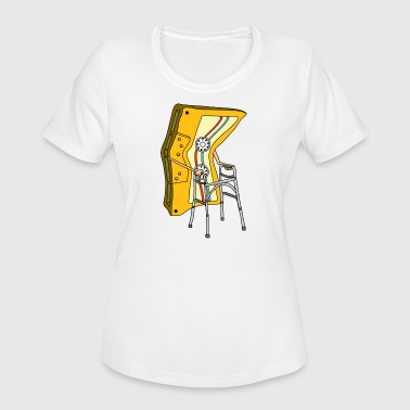 Old Road Old Audio Tape cassette hospital on the road - Women's Moisture Wicking Performance T-Shirt