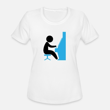 Arcade Boys A Boy Playing With An Arcade Machines - Women's Moisture Wicking Performance T-Shirt